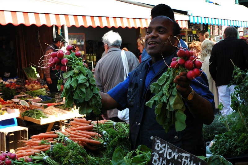 Radish Vendor at Naschmarkt - Vienna, Austria