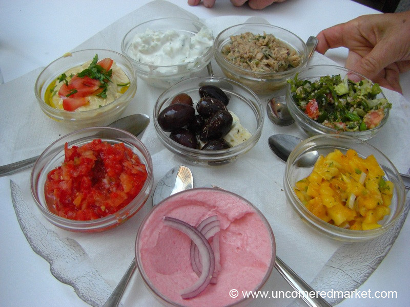 Colorful Kurdish Appetizers - Vienna, Austria