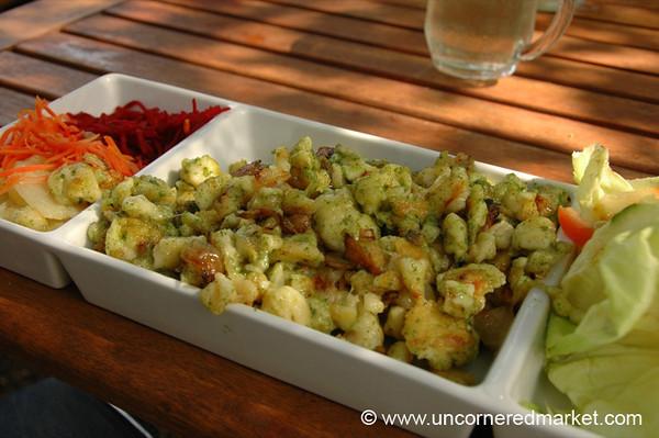 Austrian Food, Spaetzle - Vienna, Austria