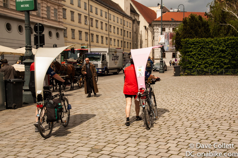 Bikes with shade- might be useful in Australia!