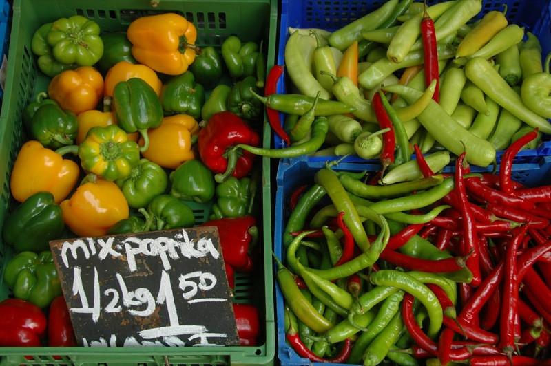 Peppers at Naschmarkt - Vienna, Austria