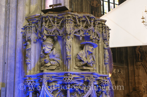 Vienna - St Stephen's Cathedral - Pulpit 2  - Long Night of Churches Festival - June 2008