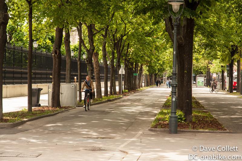 Big bike and foot paths