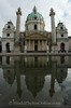 Vienna - St Charles Borromeo Church with reflection