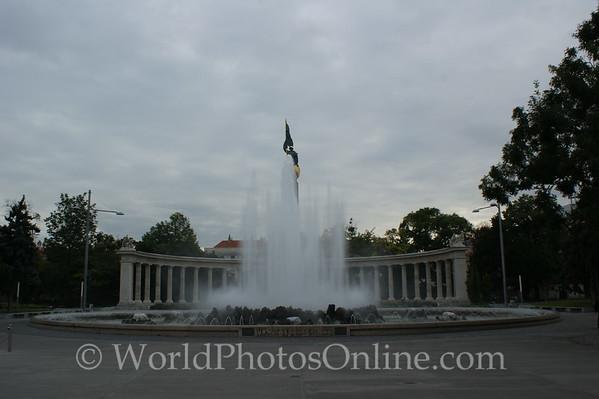 Vienna - Hochstrahlbrunnen Fountain hiding Soviet Memorial