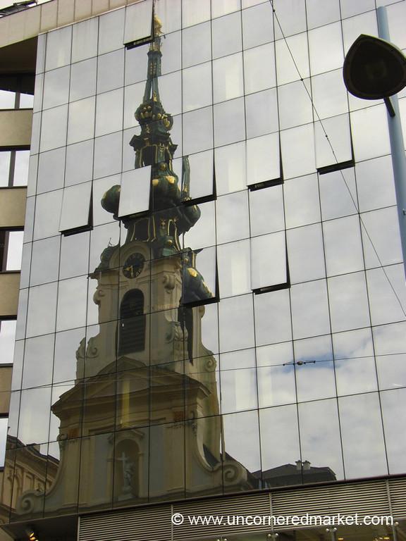 Church Steeple Reflections - Vienna, Austria