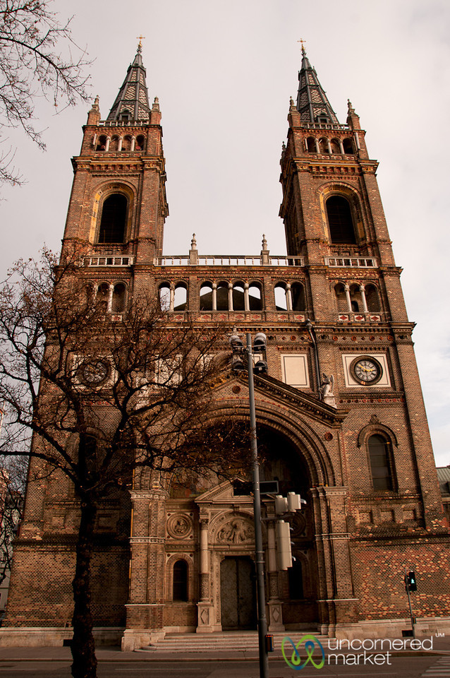 Brick Church Near Brunnenmarkt - Vienna, Austria