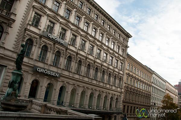 Traditional Street Scene in Vienna, Austria