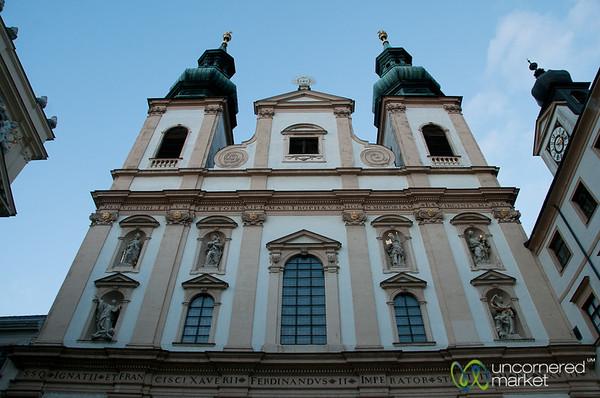 Big Church in a Small Courtyard - Vienna, Austria