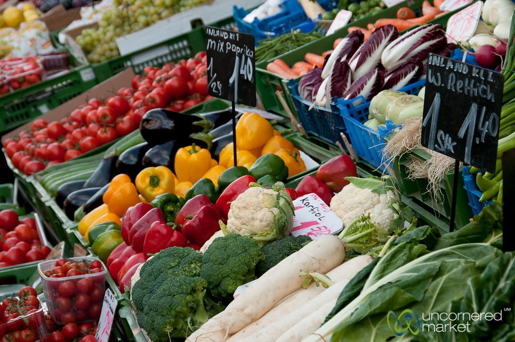 Autumn Vegetables at the Naschmarkt - Vienna, Austria