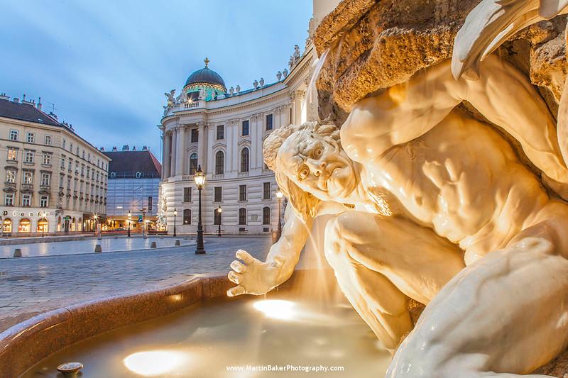 Michealerplatz, The Hofburg, Vienna, Austria.