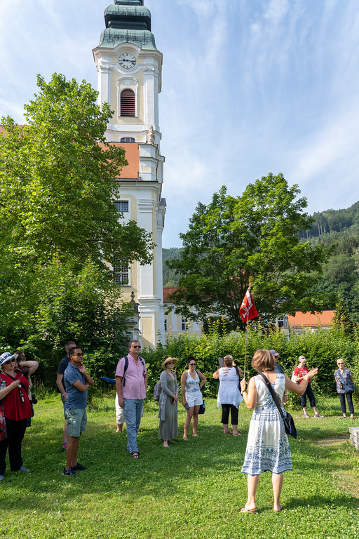 Tour group in Engelhartszell, Austria