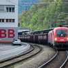 1016 050 at Leoben Hbf on the 21st April 2014.