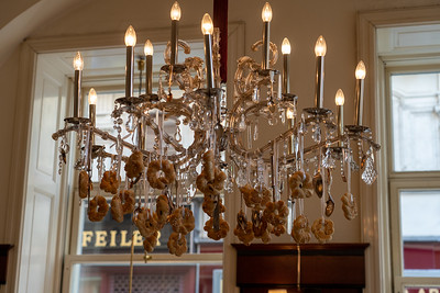 Chandelier at a Viennese cafe