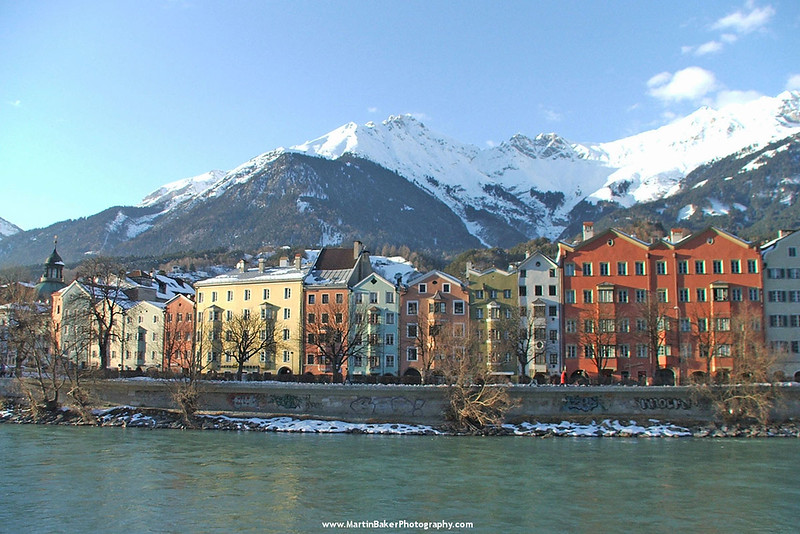 River Inn, Innsbruck, The Tyrol, Austria.