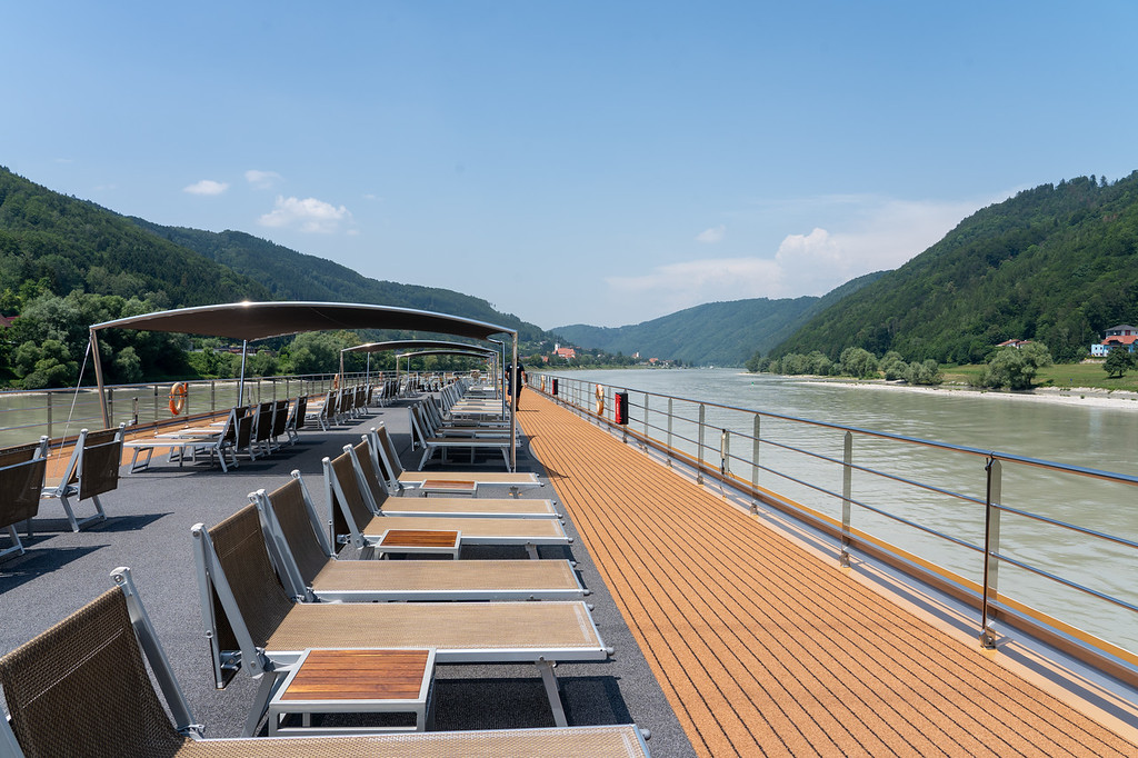 Sky Deck on the Avalon Impression as it sails up the Danube