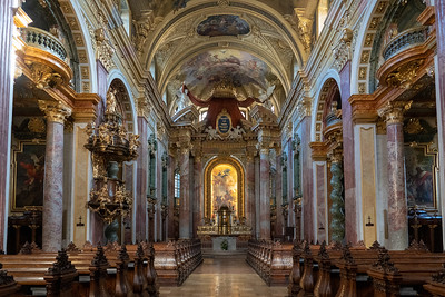 Church interior in Vienna