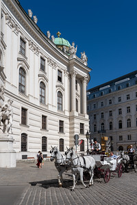 Carriages at The Hofburg in Vienna