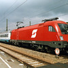 1016 020 at the head of a EuroCity service to Italy at Rosenhime, Germany