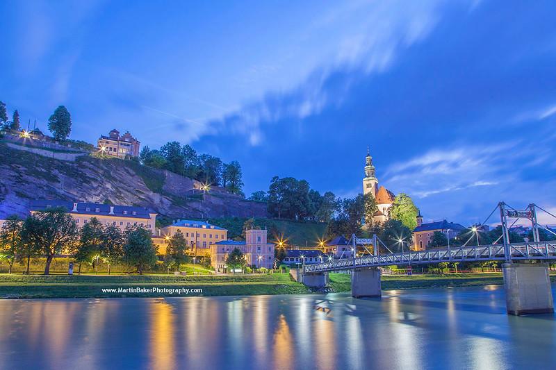River Salzach, Salzburg, Austria.