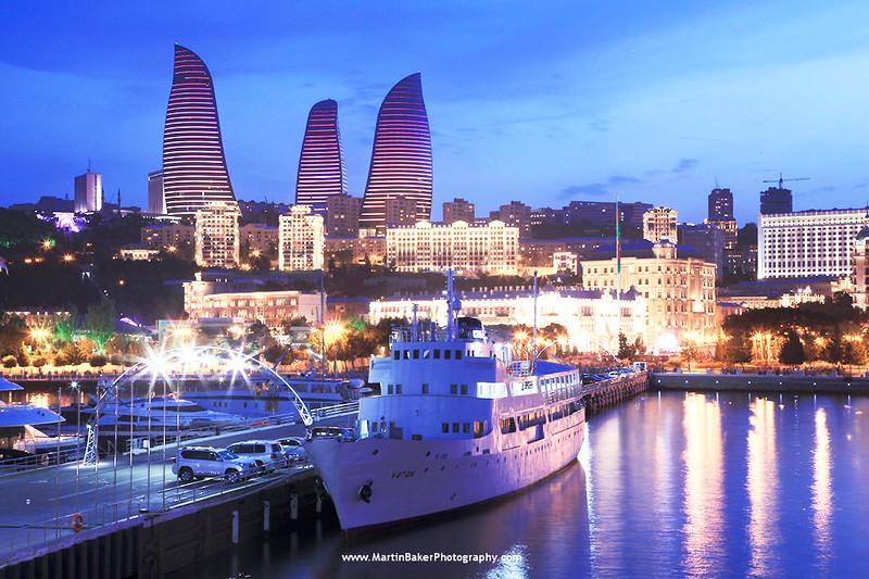 The Flame Towers, Baku, Azerbaijan.