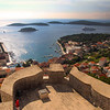 Hvar Croatia, view from castle