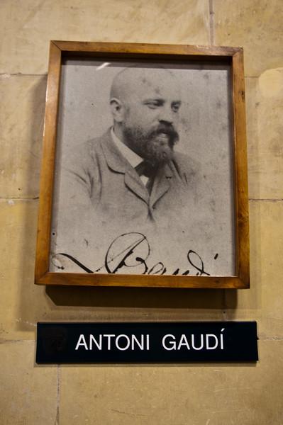 Picture of Antoni Gaudi, creator of amazing architecture.