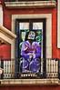Doorway featuring Dali. Barcelona, Spain
