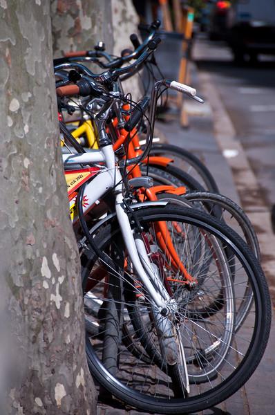 Bicycles, Barcelona, Spain