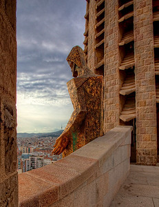 Chris's view from Sagrada Familia