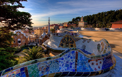 Sunrise over Parc Guell