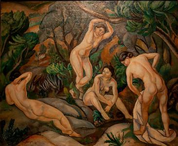 Exhibit inside Museu Nacional d'Art de Catalunya