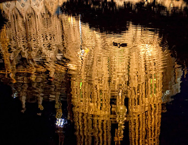 Reflection of Gaudi's Sagrada Familia