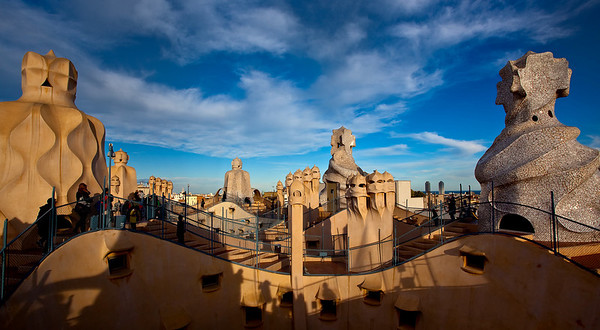 At top of Le Pedrera