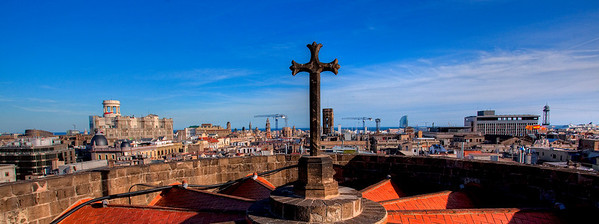 At top of Barcelona Cathedral