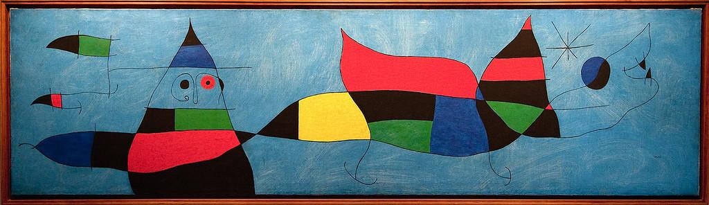 Exhibit inside  Fundacio Joan Miro