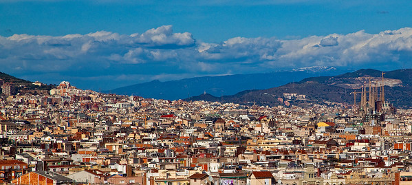 Gaudi's Sagrada Familia as seen from afar