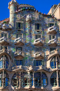 Gaudi's Casa Batllo in the morning