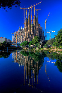 Gaudi's Sagrada Familia in the morning