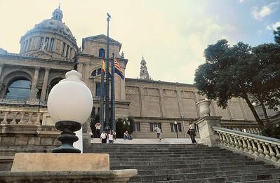Les escaliers du Palau Nacional