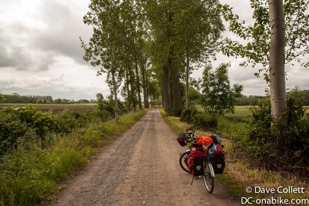 Hitting some gravel as I head south