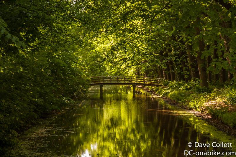 Small bridge over a  creek