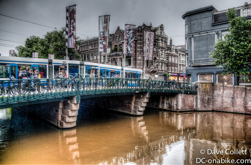 Tram and canal (HDR)