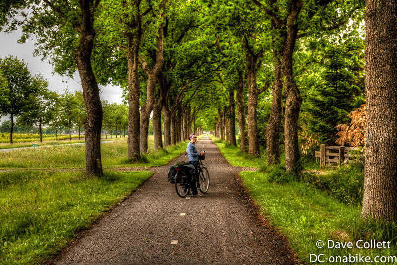 Hilary on a cycle path (HDR)