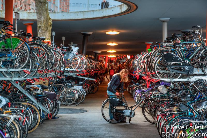 Bike parking outside Groningen Railway Station