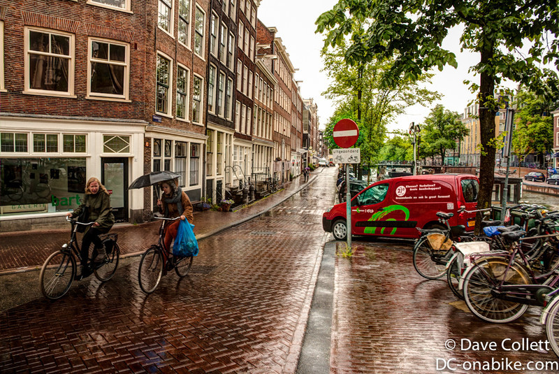 Cyclists in the rain (HDR)