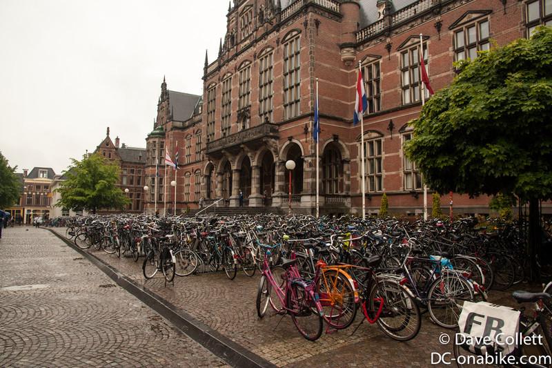 Lots of bikes in Groningen
