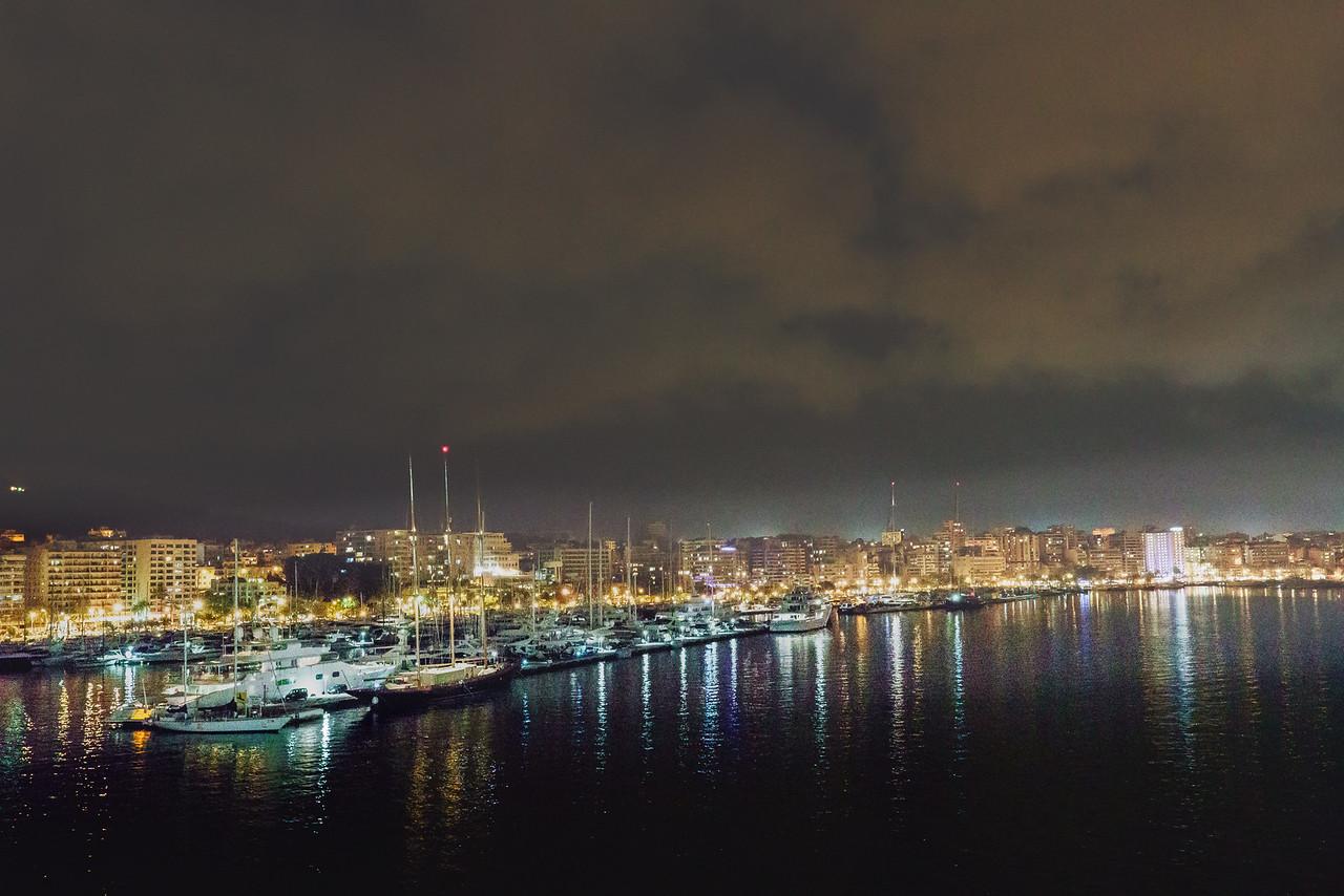 Palma De Mallorca Harbor at Night
