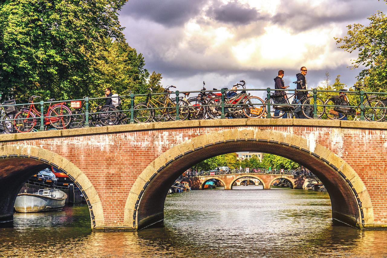 Amsterdam canal bridges 1961