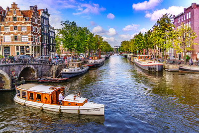 Amsterdam Canal and Boats